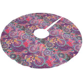 Ethnic Style Animal Pattern   Monogram 2 Brushed Polyester Tree Skirt