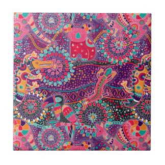Ethnic Style Animal Pattern Tiles