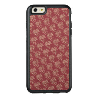 Ethnic Style Floral Mini-print Beige on Maroon OtterBox iPhone 6/6s Plus Case