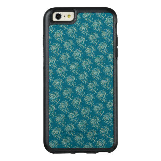 Ethnic Style Floral Mini-print Beige on Teal OtterBox iPhone 6/6s Plus Case
