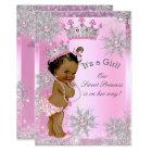 Ethnic Sweet Princess Baby Shower Wonderland Pink Card