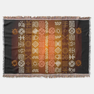 Ethnic Tribal African Graphic Throw Blanket