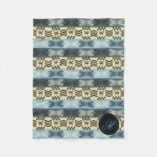 ethnic tribal african pattern.monogram. fleece blanket
