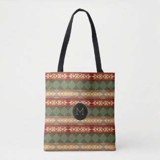 ethnic tribal african pattern.monogram. tote bag