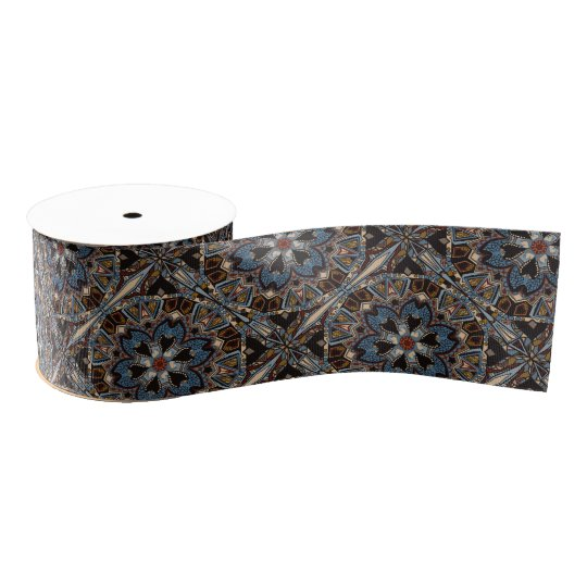 Ethnic tribal fashion abstract pattern grosgrain ribbon