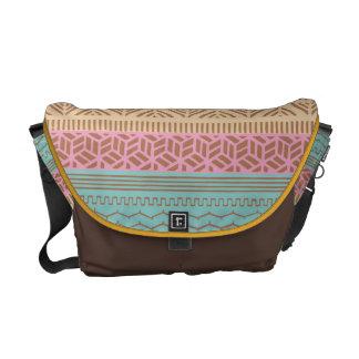 Ethnic Tribal Geometric Girly (Pastel) Monogram Commuter Bag