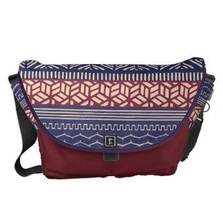 Ethnic Tribal Geometric Girly  (Purple) Monogram Messenger Bags
