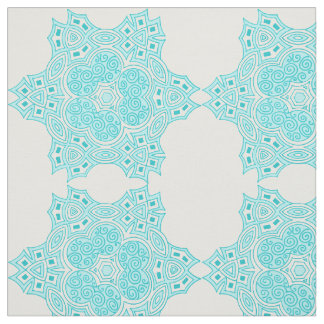 Ethnic turquoise design fabric
