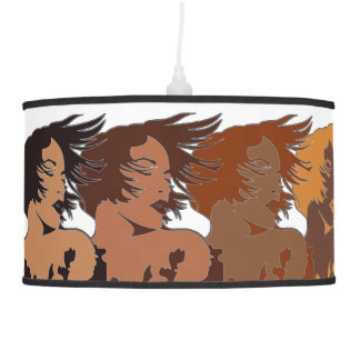Ethnic Women in the Wind Pendant Lamp
