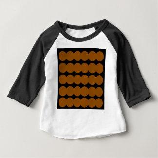 Ethno brown dots BROWN AND BLACK. Original design. Baby T-Shirt