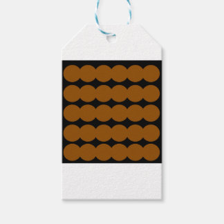 Ethno brown dots BROWN AND BLACK. Original design. Gift Tags