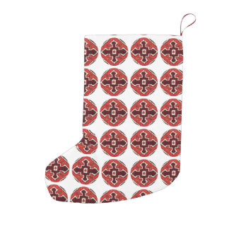 ETHNO CHIC 6 SMALL CHRISTMAS STOCKING
