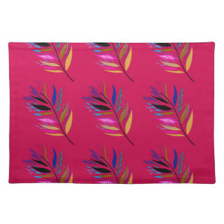 ETHNO DESIGN Leaves Pink Placemat