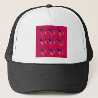 ETHNO DESIGN Leaves Pink Trucker Hat