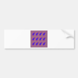 Ethno design paisleys blue pink bumper sticker