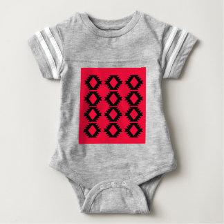 Ethno design  Red  mayan design Baby Bodysuit