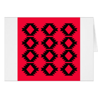 Ethno design  Red  mayan design Card