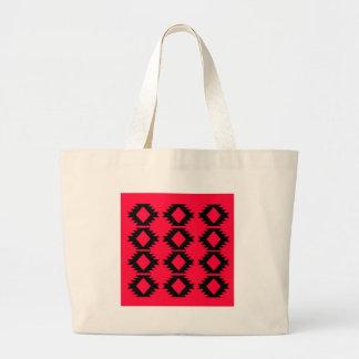 Ethno design  Red  mayan design Large Tote Bag