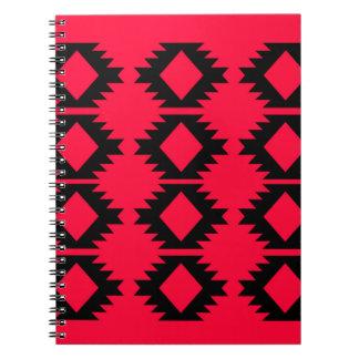 Ethno design  Red  mayan design Notebooks