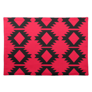 Ethno design  Red  mayan design Placemat