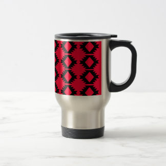 Ethno design  Red  mayan design Travel Mug