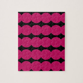 Ethno pink dots PINK AND BLACK. Original design. Puzzle