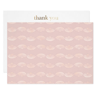 Ethno Rose Quartz Thank You Card