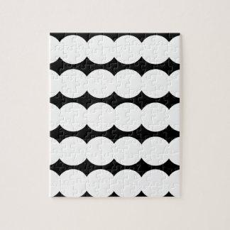 Ethno white dots WHITE AND BLACK. Original design. Jigsaw Puzzle