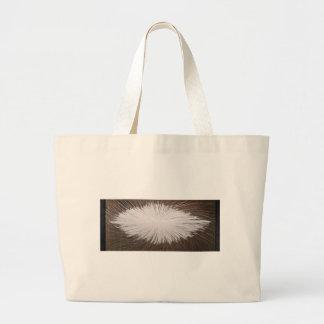 Étincelle blanche sac en toile jumbo