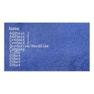 Étincelle en soie du satin ART101 bleu-foncé Carte De Visite