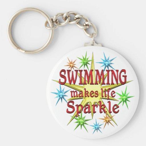 Étincelles de natation porte-clés