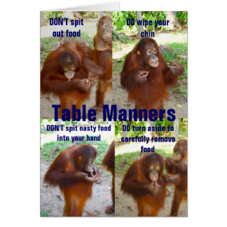 Etiquette and Manners for Wildlife or People Card