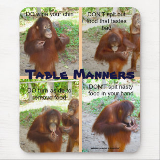 Etiquette and Manners for Wildlife or People Mouse Pad