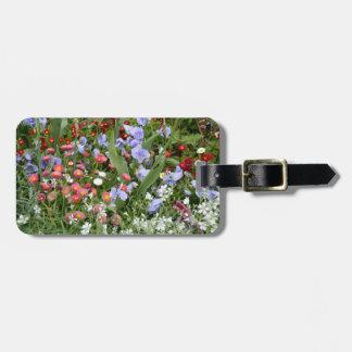 Étiquette anglaise de bagage de jardin de pays étiquette à bagage