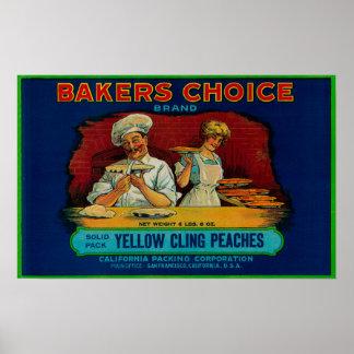 Étiquette bien choisi de pêche de boulangers posters