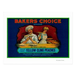 Étiquette bien choisi de pêche de boulangers cartes postales