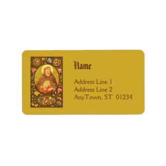 Étiquette de adresse #1b de St Dominic de Guzman