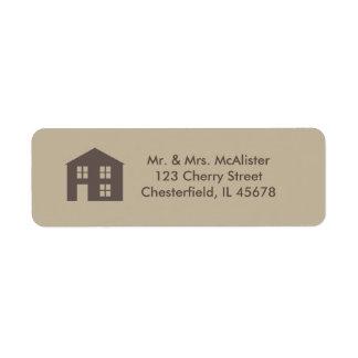 Étiquette de adresse à la maison doux à la maison étiquette d'adresse retour