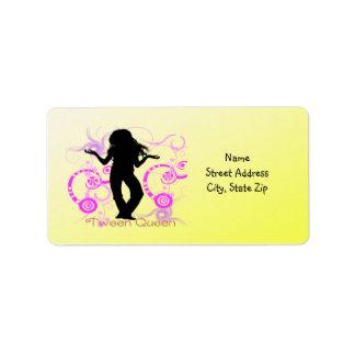 Étiquette de adresse de la Reine de Tween Étiquettes D'adresse