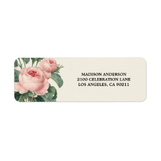 Étiquette de adresse de retour botanique du charme