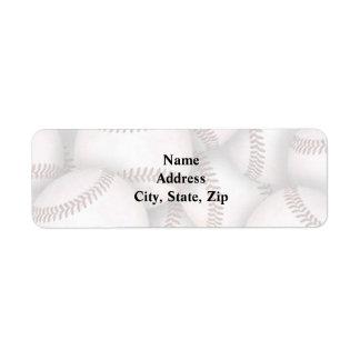 Étiquette de adresse de retour de base-ball étiquette d'adresse retour