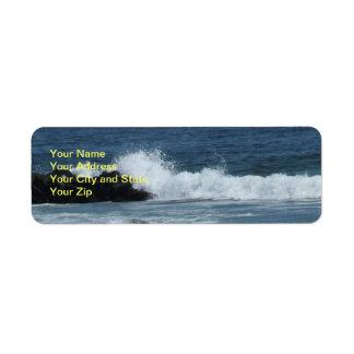 Étiquette de adresse de retour de bleu d'océan étiquettes d'adresse retour