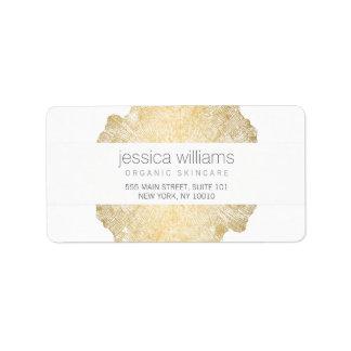 Étiquette de adresse élégant d'anneau d'arbre d'or