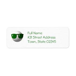 Étiquette de adresse frais de retour de boule de étiquettes d'adresse retour
