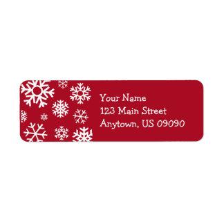 Étiquette de adresse multiple de flocons de neige
