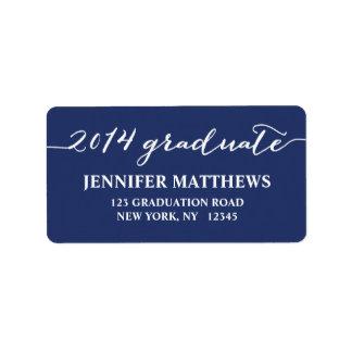Étiquette de adresse simple d'obtention du diplôme étiquette d'adresse