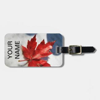 Étiquette de bagage de feuille d'érable du Canada