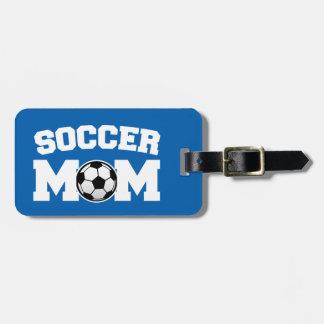 Étiquette de bagage de maman du football étiquettes bagages