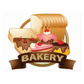 Étiquette de boulangerie carte postale