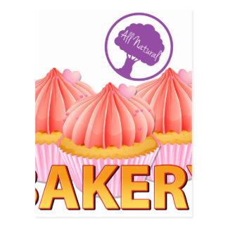 Étiquette de boulangerie cartes postales